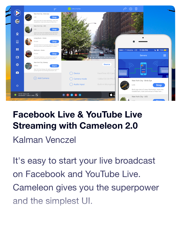 Live Streaming Software Cameleon
